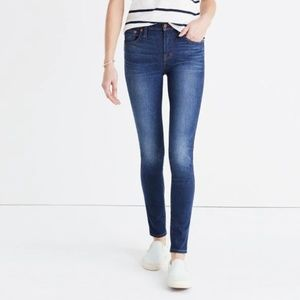 "Madewell 9"" High-Riser Skinny Jeans in Polly wash"